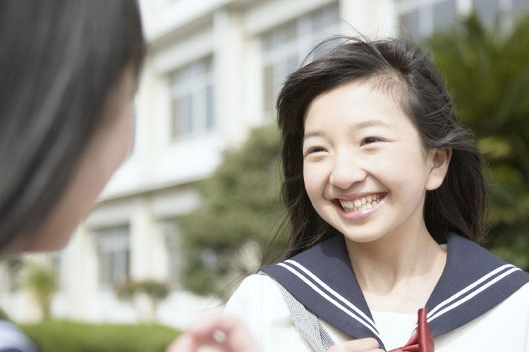 生徒の笑顔